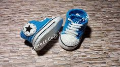 CROCHET Shower Gift Crochet Baby Slippers Crochet Converse