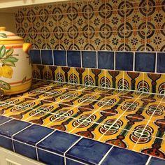 talavera tile custom backsplash. #clayimports #talaveratile #mexicantile by clayimports