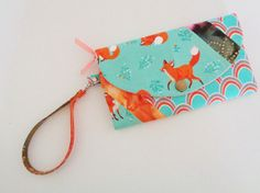 Fox wallet wristlet and billfold by CountingTreasures on Etsy