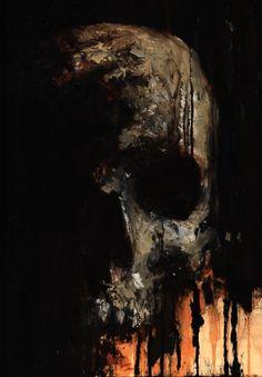 Skull Painting 2 by Juan
