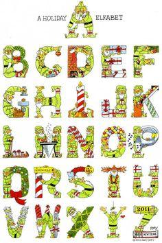 Elf Holiday alphabet