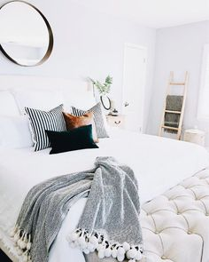 Interior bedroom bedroom inspo firefly lights modern design interior design DIY … - All About Decoration Home Decor Bedroom, Home Furnishings, Home Bedroom, Calming Bedroom, Home Decor, Bedroom Inspirations, Blue Bedroom, Interior Design, Calming Bedroom Colors