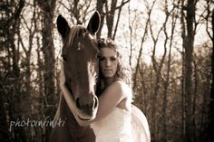trash the dress with a horse