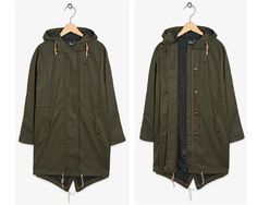 Fred Perry oversized fishtail parka for women