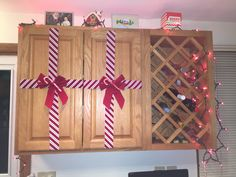 Wine rack and cabinet decorations