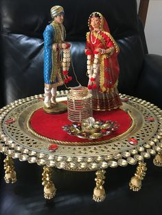 we can arrange silver articles in this plate for any function Engagement Decorations, Indian Wedding Decorations, Wedding Prep, Wedding Events, Wedding Ideas, Thali Decoration Ideas, Trousseau Packing, Marriage Gifts, Wedding Doll