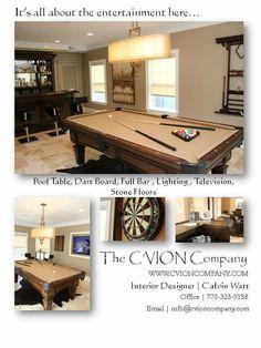 pool room, game room , basements Interior Design Photos, Dart Board, Pool Table, Basements, Game Room, Flooring, Home Decor, Bumper Pool Table, Diana