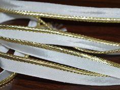 Dull Gold Jari / Gota Patti Piping Cord by Indianlacesandfabric
