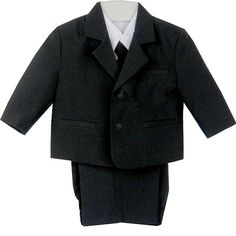 Classic Baby Boys Suit in Black 6m-7yr