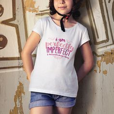 I Am Perfectly Imperfect  Youth Graphic Tee  by NellyBloom on Etsy