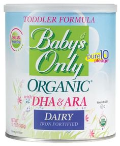 News Baby's Only Organic Dairy with DHA & ARA Formula, 12.7 Ounce   buy now     $14.75 USDA Certified Organic and Kosher DAIRY with DHA & ARA Toddler FormulaGluten Free   No rBST Dairy   No Corn Syrup nor GMO Ingr... http://showbizlikes.com/babys-only-organic-dairy-with-dha-ara-formula-12-7-ounce-2/