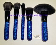 Youve FINALLY looked Behind Destinys Door where the sparkle never ends!  This is a hand-blinged Makeup Brush Set by Morphe! Always showcase your crystal addiction with these gorgeous accessories!  Morphe Brush Set Includes:  MB1 MB4 MB9 MB30 MB33  Clear Crystal, Bermuda Blue (discontinued) and Citrine are featured in the product photos.  Each brush is great for a variety of applications. I guarantee that all brushes are handled with care as to ensure the product remains clean. Each item is…