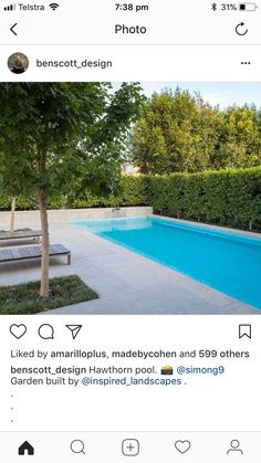Backyard Pool Designs, Small Backyard Pools, Small Pools, Swimming Pools Backyard, Swimming Pool Designs, Garden Pool, Outdoor Pool, Pool Paving, Pool Landscaping