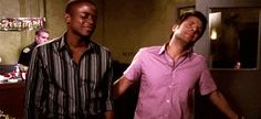 """Psych(USANetwork): Television's ultimate bromance with the buddy partnership of Shawn Spencer (James Roday) and Burton """"Gus"""" Guster (Dulé Hill) (giphy.gif"""