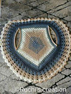 Görümce Çatlatan En Şahane 53 Şal Örgü Modelleri - pionero de la cosmética, alimentación, moda y confección Crochet Circle Vest, Col Crochet, Crochet Vest Pattern, Crochet Circles, Crochet Jacket, Crochet Mandala, Crochet Cardigan, Crochet Shawl, Crochet Stitches