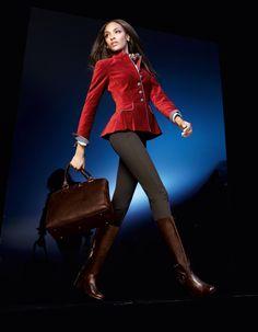 Samtblazer mit Schößchen in der Farbe kaminrot - rot - im MADELEINE Mode Onlineshop