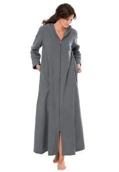 Jessica London Women`s Plus Size Hooded in Long, Soft Fleece Robe