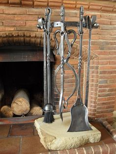 72 best fireplace tools images wrought iron fire places rh pinterest com