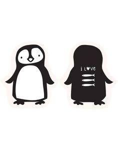 a little lovely company | penguin cushion