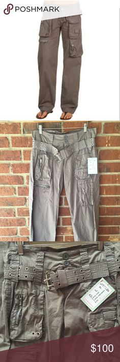 Pete and Greta Poplin Cargo Pants- Ashen Brown Pete & Greta Poplin Cargo Pants are the greatest pants ever for everyday, year round wear. Pants feature a straight leg design with button waist and zipper fly. 4 different front pockets with 2 back pockets. Great for travel. Belt with grommet details included. 97% cotton 3% spandex. Machine wash, tumble dry low or hang dry. Pete and Greta Pants Straight Leg