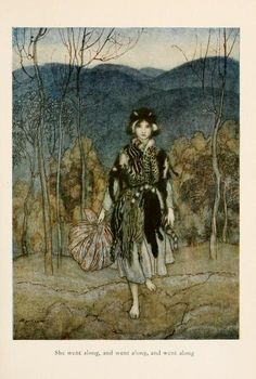 "etctatic:  ""Catskin"", illustrated by Arthur Rackham (1927)"