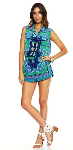 LOVERS + FRIENDS WOODSTOCK SHORTS SCARF $94- CALL SPLASH TO ORDER 314-721-6442