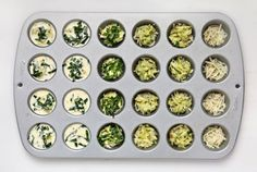 Keeper - freeze - Make-Ahead Recipe: Crustless Mini-Quiches — Recipes from The Kitchn Muffin Pan Recipes, Muffin Pans, Mini Muffin Pan, Mini Quiches, Breakfast Bites, Make Ahead Breakfast, Breakfast Quiche, Mini Quiche Recipes, Easter Brunch