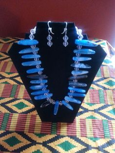 A stunning natural blue agate set.  So simple, but quite awesome!