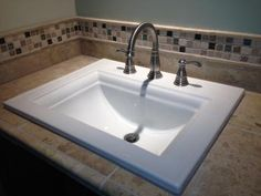 American Standard 0700 008 020 Town Square 23 1 8 Drop In Bathroom Sink For Widespread Faucet Hardware Pinterest And Sinks