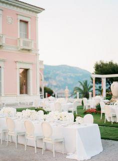 Fabulous wedding at Villa Ephrussi de Rothschild in French Riviera Wedding Decorations, Table Decorations, Groom Attire, Wedding Bridesmaid Dresses, French Riviera, Villa, Weddings, Wedding, Groom Outfit