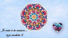 """🌸Mandala Crochet """"Je reste à la maison... et je crochète 3"""" """"Lidia Croch... Lidia Crochet Tricot, Crochet Mandala, Arabesque, Madness, Handmade, Vintage, Accessories, Mandalas, Wool"""