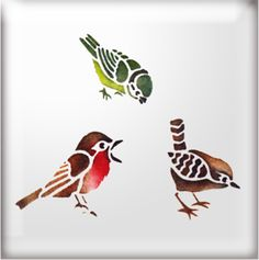 Bird stencils - for my stools?