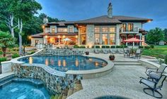 $4.795 Million Mediterranean Style Lakefront Mansion In Cornelius, NC