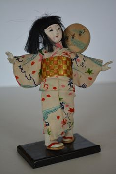 Vintage Japanese folk craft doll, mingei folk craft doll by StyledinJapan on…
