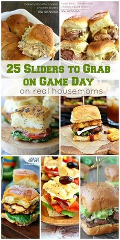 Round up your friends and get ready to yell at the TV! We're bringing you 25 SLI… Round up your friends and get ready to yell at the TV! We're bringing you 25 SLIDERS TO GRAB ON GAME DAY that'll make your crowd go wild! Game Day Snacks, Game Day Food, Game Day Recipes, Appetizer Recipes, Appetizers, Slider Sandwiches, Slider Recipes, Tailgate Food, Tailgating Recipes