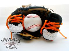 SF Giants inspired Newborn Converse Newborn by Whimsystitchbysarah, $18.00