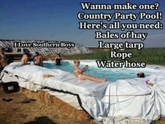Redneck pool party!!