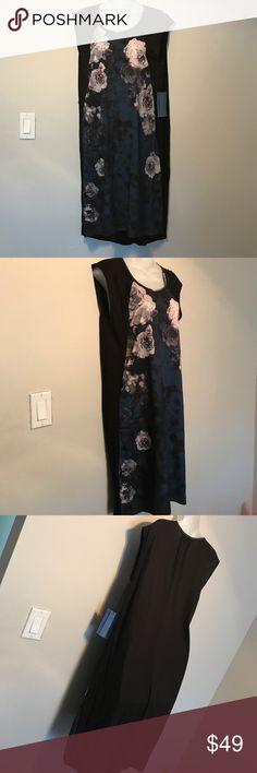 Oil Flwr Dress small New! 97% polyester 3% spandex knit 100%rayon. No belt No trade No lowball. Mill248 Simply Vera Vera Wang Dresses