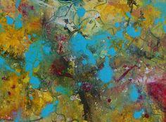 Original Painting Abstract Mixed Media Art Watercolour Ink Acrylic. £20.00, via Etsy.