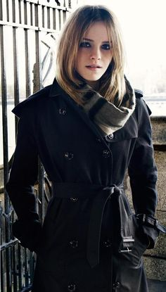 Emma Watson,because her scarf and trench coat are just !!!