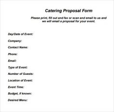 Catering Proposal Idas Ponderresearch Co