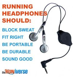 What to look for in running headphones.