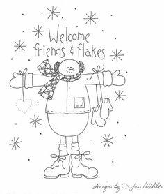 snowman shapes to applique | Christmas stitchery pattern - Free stitchery pattern