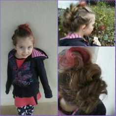 a faux hawk for Crazy Hair Day in 2016