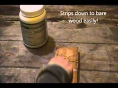 Removing stain and gloss finish from wood with Home Strip Paint and Varnish Remover. EcoSolve's new innovative water based gel paint stripper can be safely used indoors with minimal ventilation. No toxic fumes or burn hazards only fast and effective results.