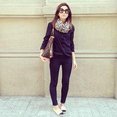 Total look black - skinny jeans