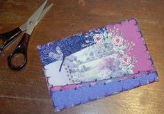 Crazy Quilted Postcard - Tutorial - Step 7 by Calidores Gardener, via Flickr