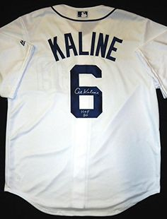 33a8ddd87bd Al Kaline Autographed Detroit Tigers Home Jersey Inscribed