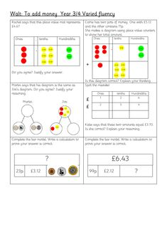 18 Greater depth Questions by Chesholivia - Teaching Resources - Tes Teaching Money, Teaching Resources, Teaching Ideas, Ks2 Maths, Numeracy, Mastery Maths, Year 3 Maths, Counting Money Worksheets, Math Activities For Kids