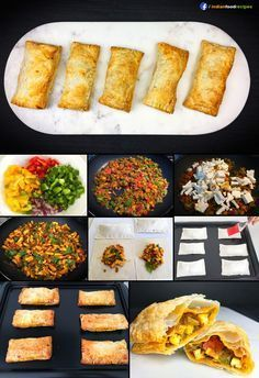 Paneer Puff recipe step by step pictures are crispy, flaky, savoury puff pastries with a flavourful cottage cheese filling. A perfect tea time snack. Puff Recipe, Puff Pastry Recipes, Puff Pastries, Snack Recipes, Cooking Recipes, Oven Recipes, Recipies, Pizza Recipes, Yummy Snacks